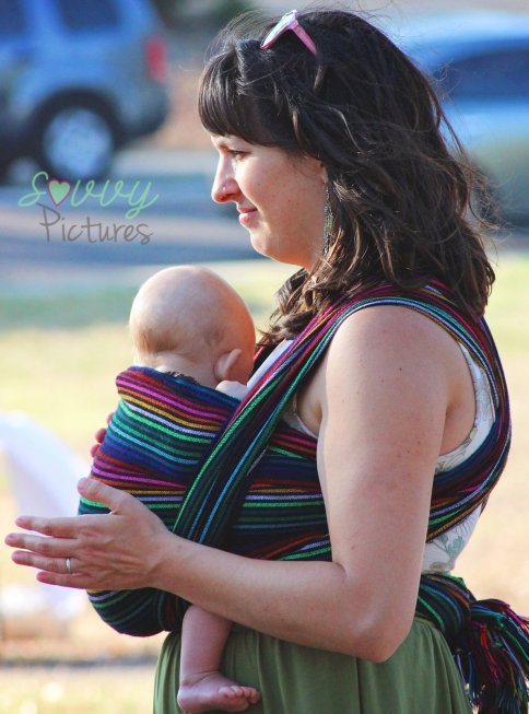 Plus moms with wraps were at the event