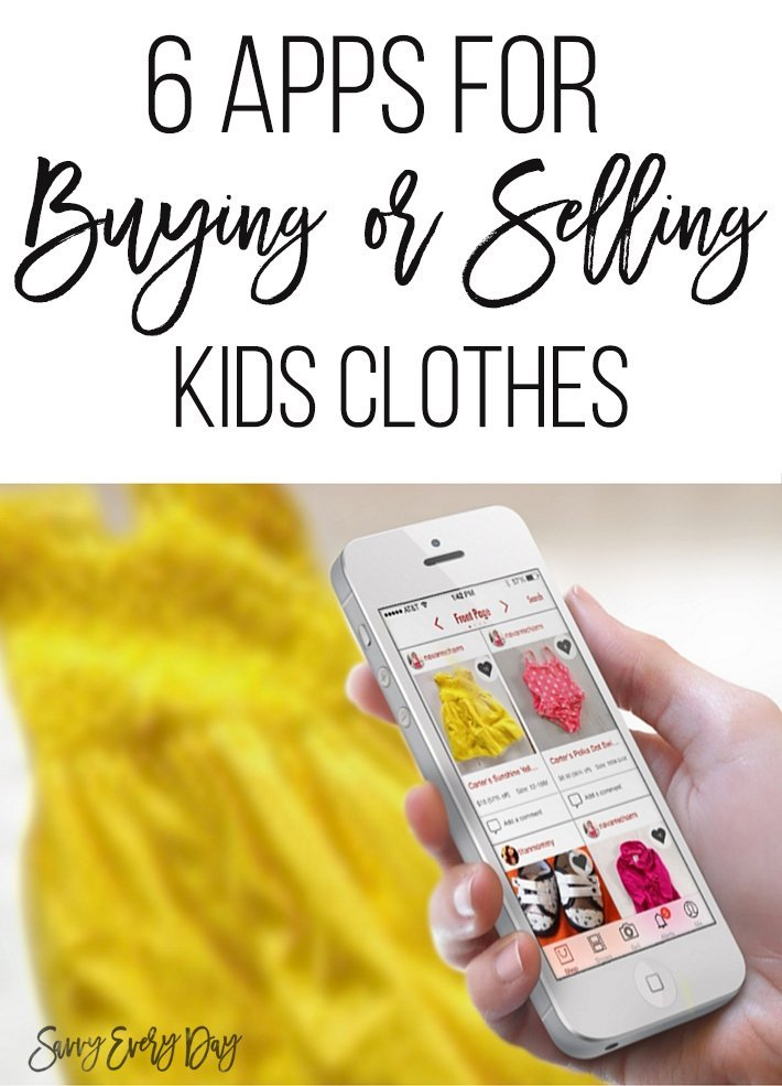 6 apps for buying and selling kids clothes