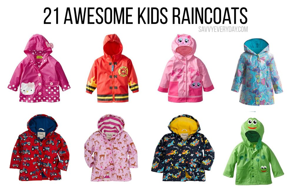 Cute Kids Raincaots