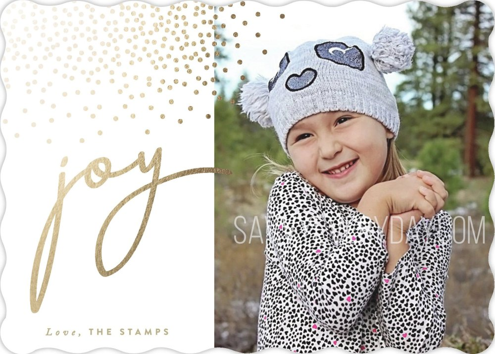 Minted holiday photo card