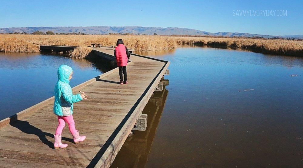 kids walking the bridge