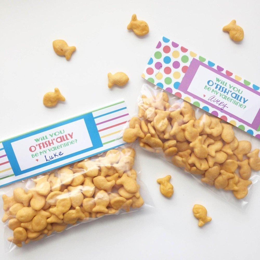 Goldfish Valentine's Snacks