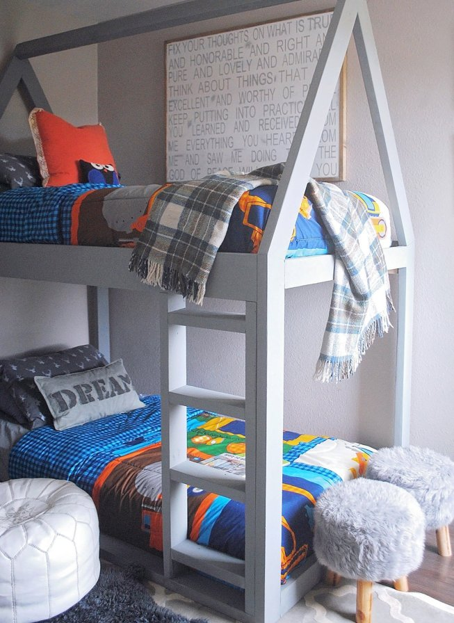 Simple Diy House Shaped Kids Bunk Bed To Make This Weekend
