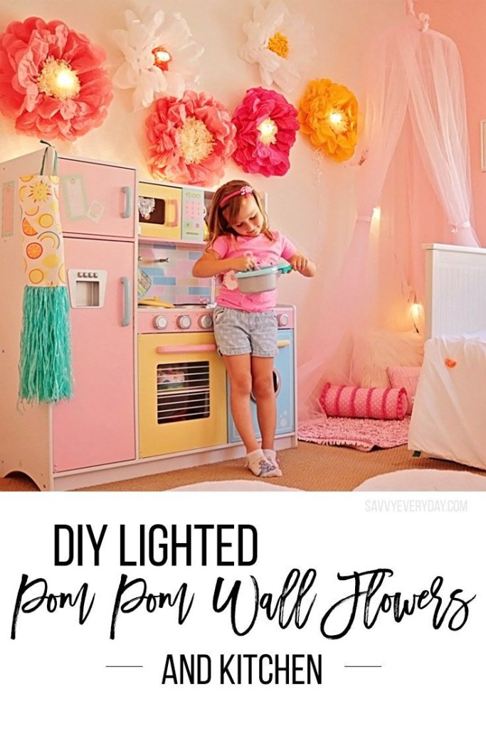 diy lighted pom pom flowersv2