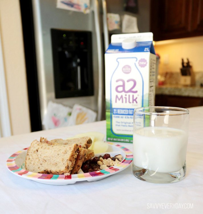 a2 milk lunch display