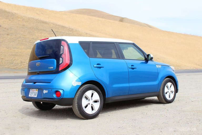 Kia Soul EV from the back