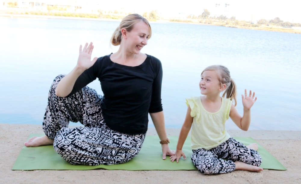mommy and daughter yoga