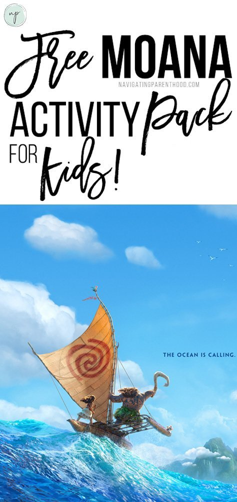 Free Moana activity pack