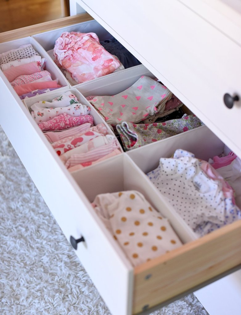 organized dresser drawer