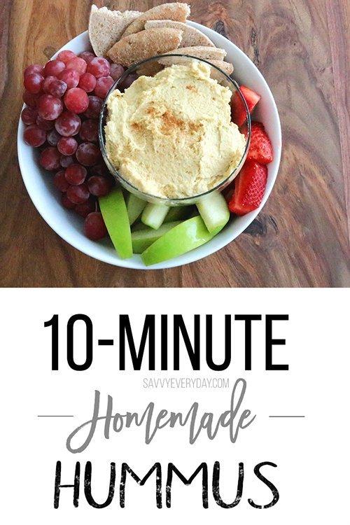10-Minute Homemade Hummus