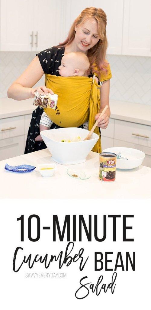 10-Minute Cucumber Bean Salad