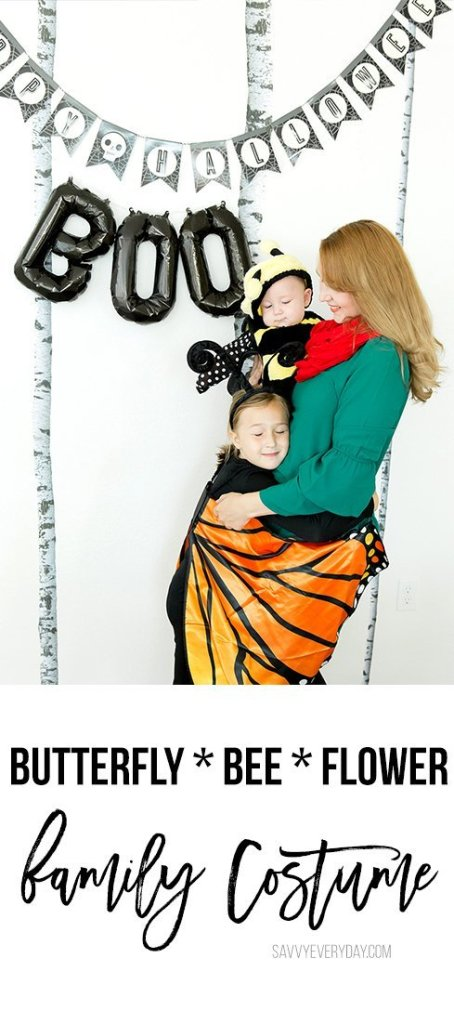 butterfly bee and flower family Halloween costume