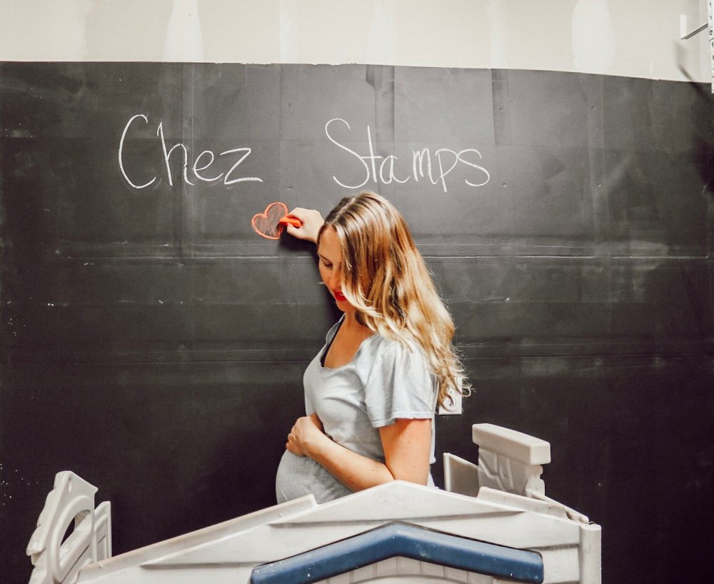 writing on chalk wall - nesting