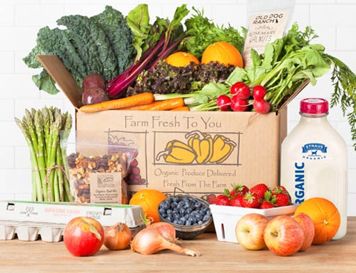 Farm Fresh to You box full of produce