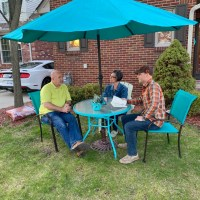 front yard intentional conversations turquoise table The Navigators Detroit