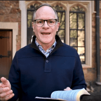 Resurrected Hope in Turbulent Times | An Easter Message from Doug Nuenke | The Navigators | Doug opening his Bible to share a message of Hope.