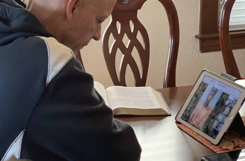 Intentional Discipleship Thrives Despite COVID-19   Henry Bouma in prayer on a Zoom conference call
