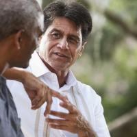 Spiritual Friendship | Navigators Discipleship Resource | Two men having a conversation outside
