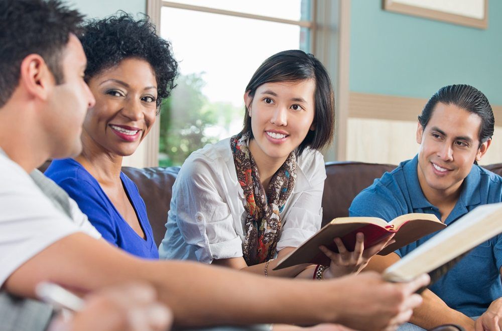 A Life-Changing Encounter with the Gospel of John | The Navigators Bible Study Resource | Group of young adults having discussion during bible study