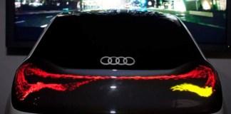 Audi esta realizando pruebas para incluir pantallas directamente en la carrocería de sus automóviles