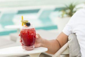 Drink juice tropical pool