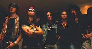 Rock band musicians