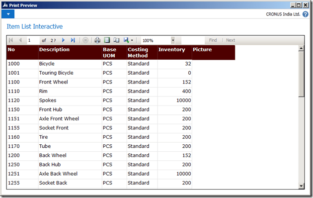 Interactive Reports in NAV 2013 R2 (5/6)
