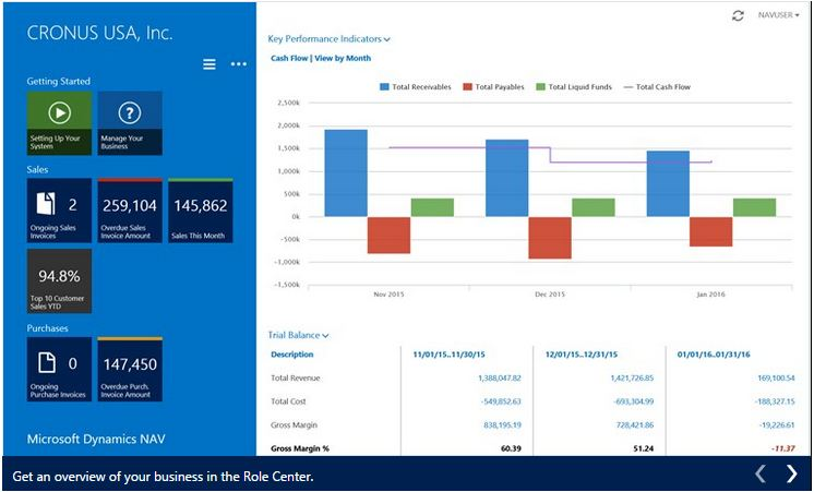 Microsoft Dynamics NAV 2015 Windows 8.1 App (2/6)