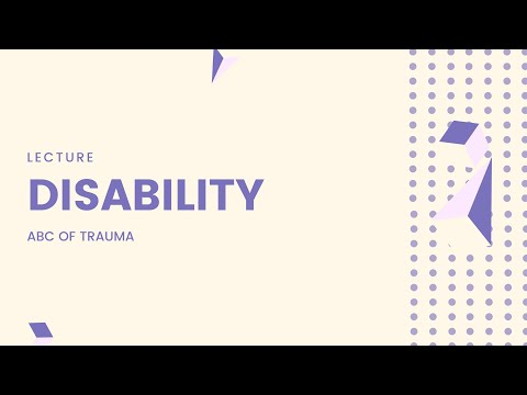 ABCDE medical emergency assessment   Disability