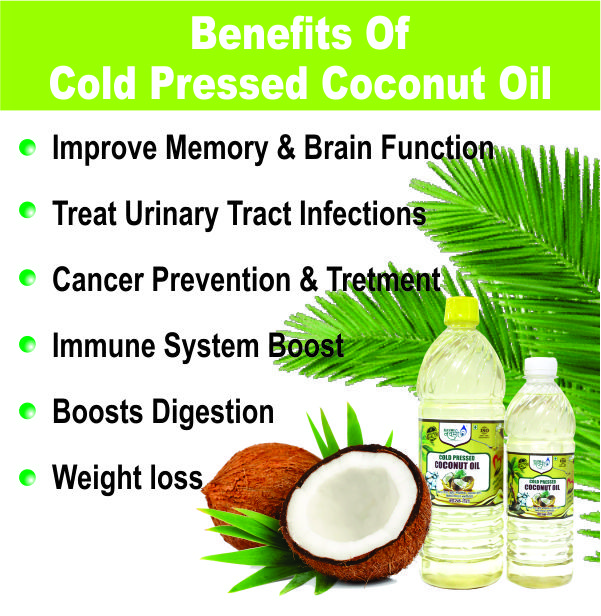 Benefits of cold pressed coconut oil