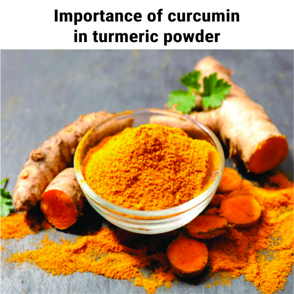 Importance of curcumin in turmeric powder