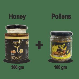 Honey (300 Gm) & Bee Pollen (100 Gm)