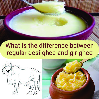 What is the difference between regular desi ghee and gir ghee