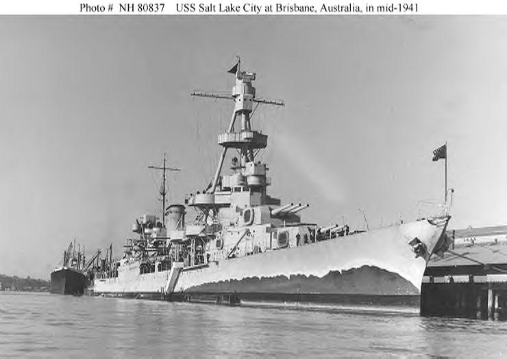 Brisbane radar Cruiser Photo Index CA 25 USS SALT LAKE CITY - Navsource ...