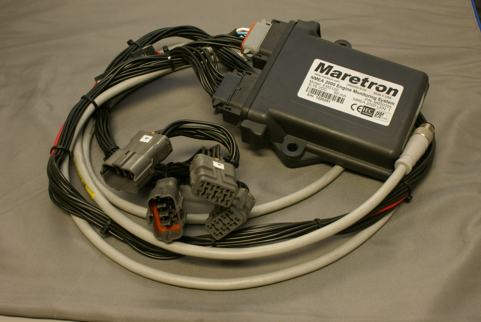 hight resolution of  maretron nmea 2000 yanmar harness with ems100 ems100 accessory emsyrm01