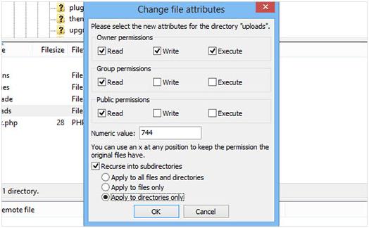 resolve uploading image error in wordpress