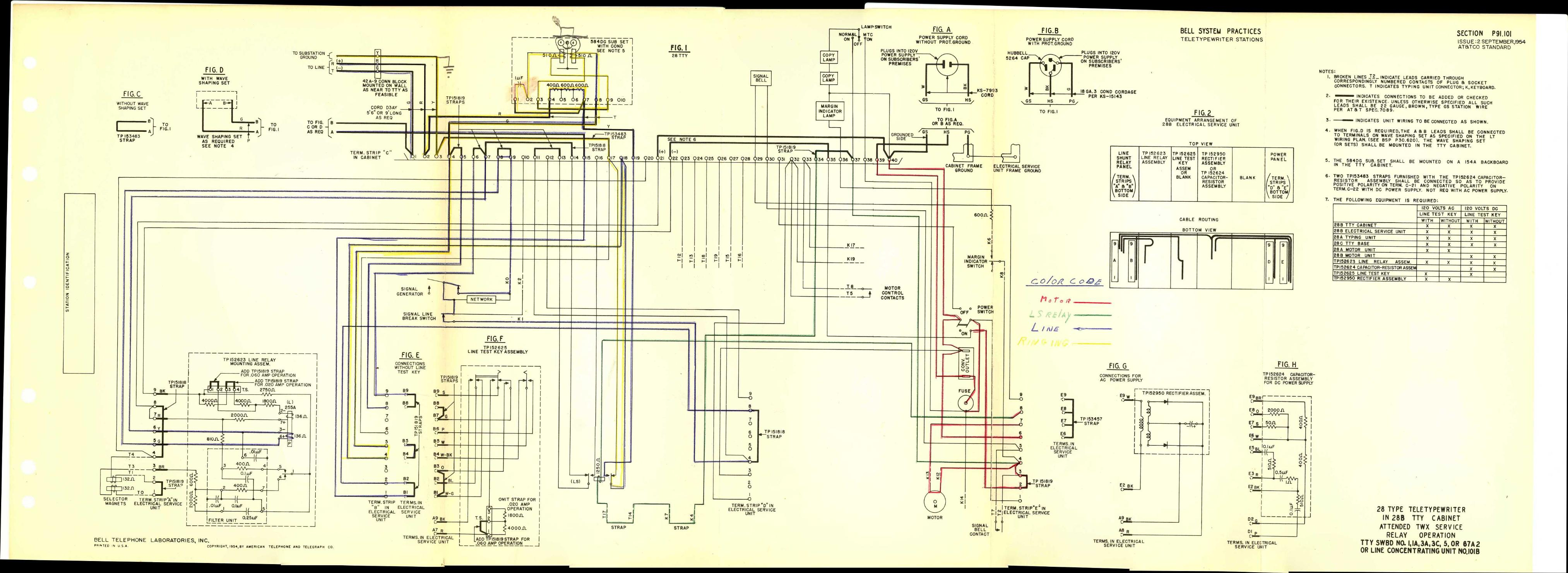 110 sub panel wiring diagram 5 pin oak court glen head ny teletype corp. maintenance, installation, operation, and parts publications