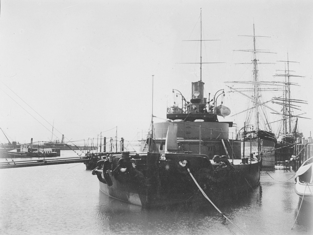 medium resolution of hmvs cerberus berthed at williamstown during the late 1800 s
