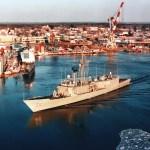 Robertsleaves the Maine shipyard.