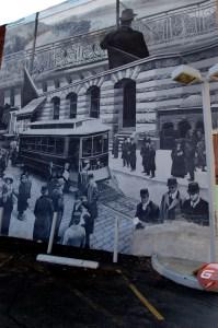 """""""History of Trolleys in Philadelphia,"""" Karl Yoder, 2002. (2008 photo by Lori Horwedel.)"""