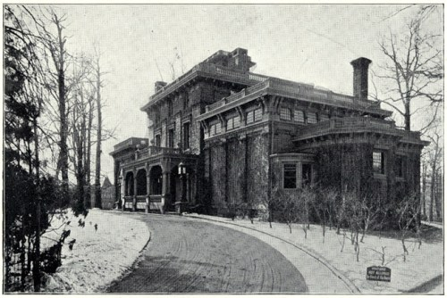 """""""Chestnutwold,"""" Clark's West Philly mansion (""""King's Views of Philadelphia"""" (1900)/Bryn Mawr)"""