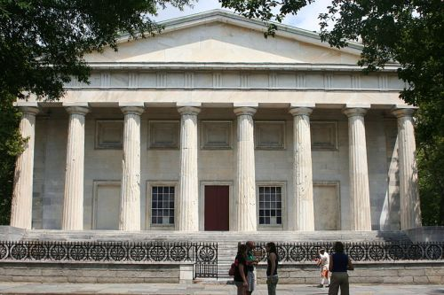 The second Bank of the United States at 420 Chestnut Street: designed by Strickland, controlled by Biddle, served by Newkirk and Jaudon, destroyed by Andrew Jackson.