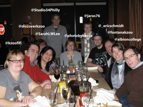 Hanging out with new Kzoo tweeps