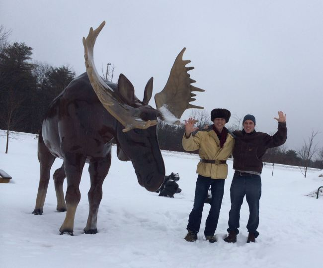 "Gardiner, Maine: ""Sorry, folks, rest area's closed. Moose out front should have told you."""