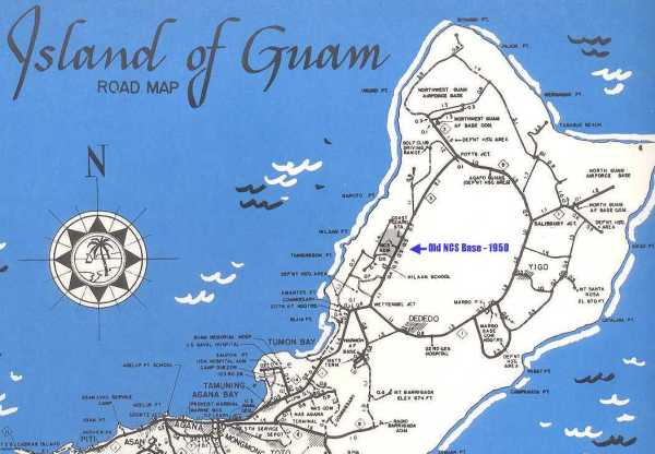 NSGDept Guam Mariana Islands 1950 Map of Guam