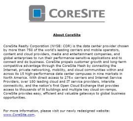 CoreSite Facilities Technician
