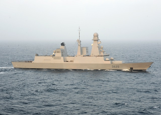 """French Navy's Horizon-class AAW Destroyer Forbin (classified as """"Frigate"""" in the French Navy) succesfully test-fired an MM40 Blk II anti-ship missile, the French Navy (Marine Nationale) announced. The test took place on May 9th in the Mediterranean Sea."""