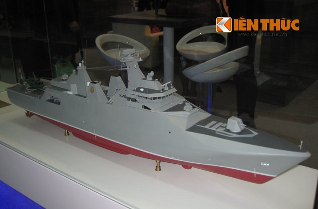 During Vietship 2014 Nava Exhibition in Vietnam, Dutch shipyard Damen unveiled for the first time the design of the Sigma 9814 Corvette ordered by Vietnam. It was announced in October 2011 that Damen shipyard in Vlissingen, Netherlands will build four Sigma corvettes for the Vietnamese Navy. The first two ships will be built in Vlissingen (Netherlands), and the last two (options) will be built in Vietnam, under Dutch supervision.