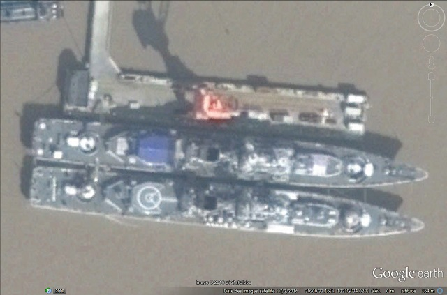 Recent images from China are showing two People's Liberation Army Navy (PLAN) Project 956E Sovremennyy destroyers undergoing major refit and upgrade. It appears that the PLAN is upgrading its class of four destroyers (two 956E followed by two improved 956EM) acquired from Russia with domestic systems.