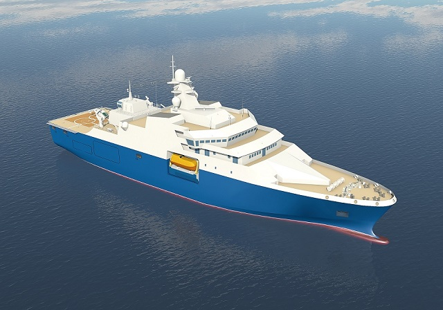 Shipyard in West Russia lays down Project 23700 Rescue Support Ship Voyevoda